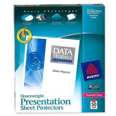 """Avery PV119-50  Top Loading Sheet Protector - Letter 8.50"""" x 11"""" 50 / Box-Clear"""