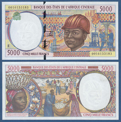 CENTRAL AFRICAN STATES / CAMEROUN 5000 Francs (20)00 UNC P.204E f