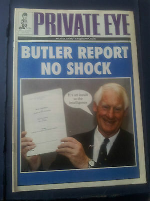 PRIVATE EYE 1111 23 July to 5 Aug 2004  BUTLER REPORT BLAIR IRAQ PAUL FOOT