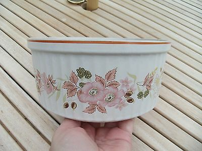 Vintage Boots Hedge Rose 2.5 Pint Souffle Dish Made In Japan