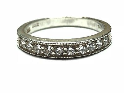 Beautiful Ladies Sterling Silver CZ Ring - Take A Look! - Size 6 - Wow!