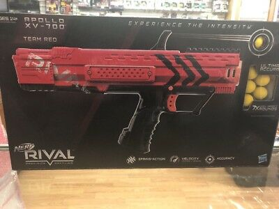 New ~ Team Red Nerf Blaster Precision Battling Soft Dart Gun Rival Apollo Xv-700