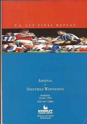 1993 Fa Cup Final Replay - Arsenal V Sheffield Wednesday