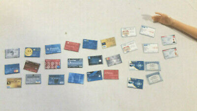 Barbie 1:6 Money Credit Bus Library Medical Social Security Cards
