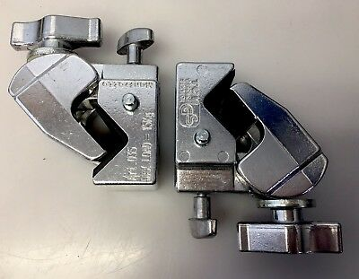 Lot Of Two (2) Manfrotto Art. 035 Super Clamps in Chrome