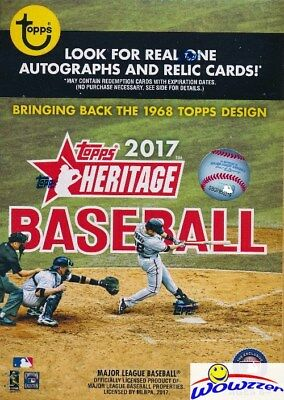 2017 Topps Heritage Baseball EXCLUSIVE Factory Sealed Blaster Box! Loaded!