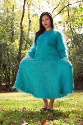 MOHAIR SWEATER & SKIRT with ANGORA GLOVES