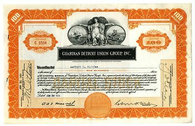 Guardian Detroit Union Group, Inc., 1931 Issued Stock Certificate
