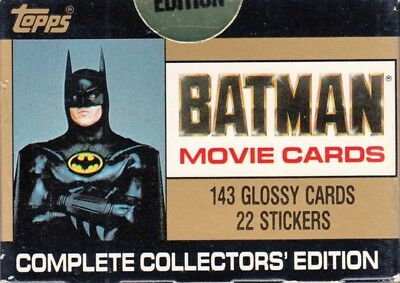 Batman The Movie Series 1 1989 Topps Factory Base Card & Sticker Set 132/11/22