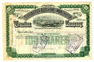 Pittsburgh, Allegheny & Manchester Traction Co. 1895.