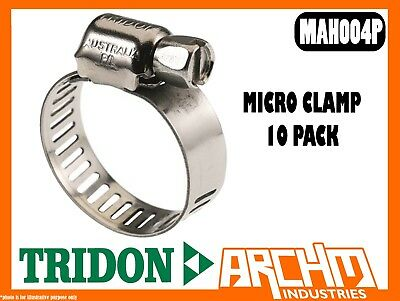 Tridon Mah004P - Micro Clamp - Hose 2 Pack 6Mm-16Mm Perforated All Stainless