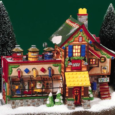 Dept 56 North Pole Village - Lego Building Creation Station 56735 Retired Wbx