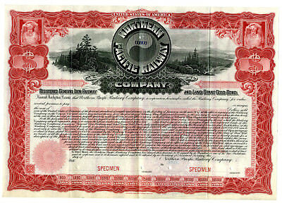 Northern Pacific Railway Co., ca.1900-1920 Specimen Bond