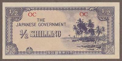 1942 Oceania 1/2 Shilling Note Unc