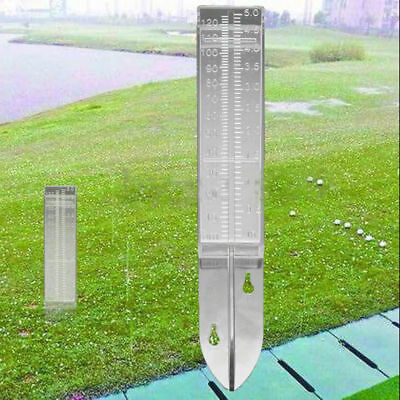 120ml Acrylic Material Plastic Dual Scale Rain Gauge Garden Water Ground TC