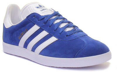 Adidas Gazelle Men Blue White Suede Leather Trainers UK Size 6 - 12