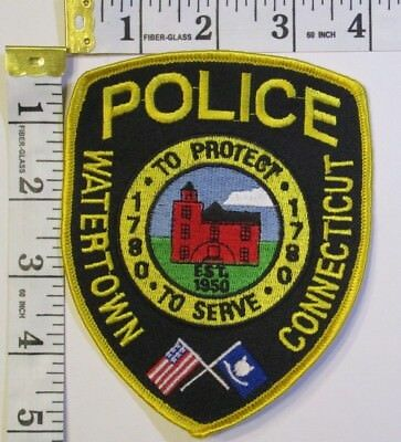 Watertown Connecticut Police Shoulder Patch
