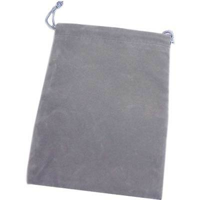 Silver Gray Velour Jewelry Gift Pouch