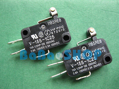 6pcs V-155-1C25 OMRON MIN Basic NC NO Momentary Limited Micro Switch SPDT 28x16