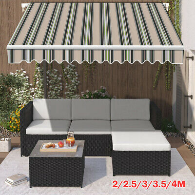 2/2.5/3/3.5/4M Awning Canopy Outdoor Patio Garden Sun Shade Retractable Shelter