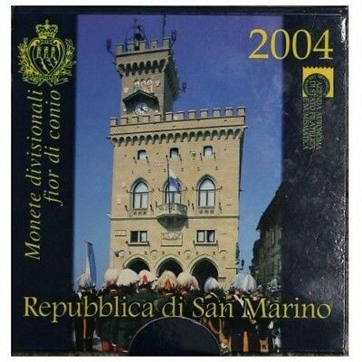 2004 San Marino Divisional Coins Fdc Packaging Mf28613