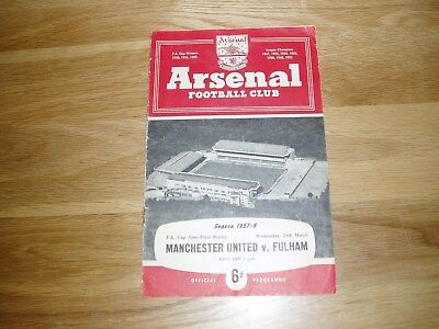 1957-58 FA Cup semi-final REPLAY Fulham v Manchester United