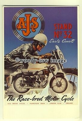 ad0036 - AJS Motorcycle - modern advert postcard