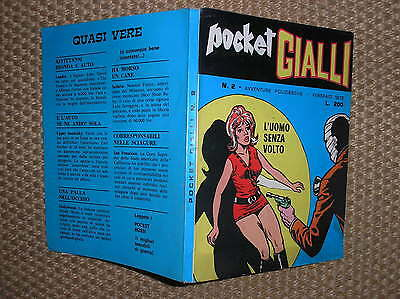 Pocket Yellow 2 Avventure Cop Shows Ed. Sip February 1972 Excellent