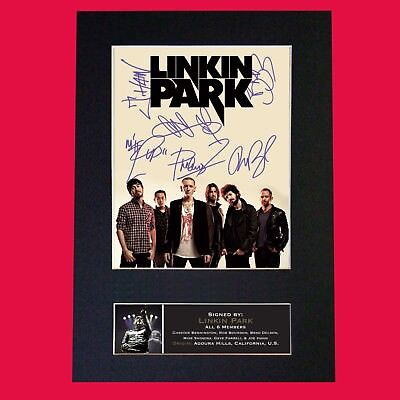LINKIN PARK (RARE) Quality Autograph Mounted Signed Photo Repro Print A4 705