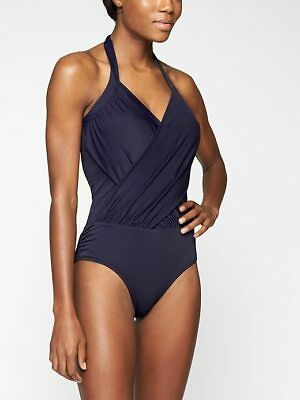 af5c60384dd Zwemkleding Athleta Blue Baja One Piece Swimsuit Sz M