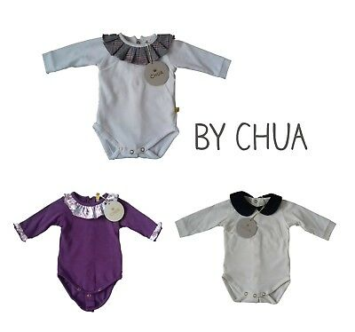 Designer CHUA Baby Girls Top Romper Bodysuit Party Occasion Dress Long Sleeve