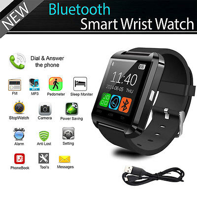 Bluetooth Smart Wrist Watch Phone Mate For Android iPhone Samsung HTC LG OZ