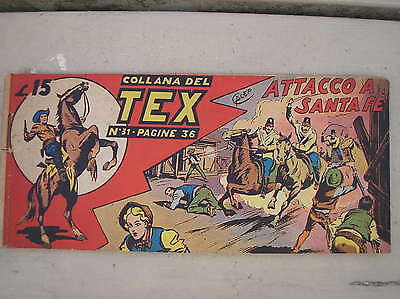 Tex Stripe Prima Serie I 1° # 31 Original 1949 Attack In Santa Fe