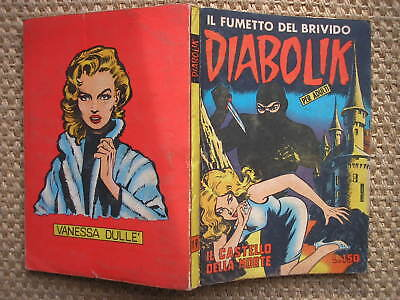 DIABOLIK N. 19 PRIMA THE in series CASTELLO DELLA MORTE ORIGINAL 1964 EXCELLENT