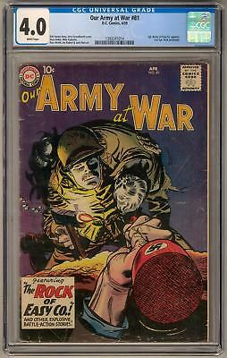 Our Army At War #81 CGC 4.0 (W) Sgt. Rocky App.