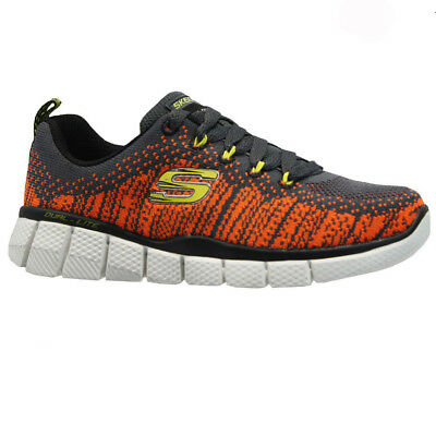 Boys Skechers Relaxed Fit Air Cool Memory Foam Slip On Walking Trainers Shoes