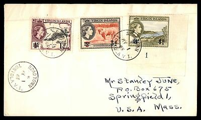 Virgin Islands 1963 Roadtown Tortola May 1 1963  Cancels On Cover To Springfield