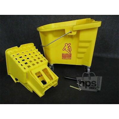 Continental 335-312YW Splash Guard 35Qt Mop Bucket With Slide Press
