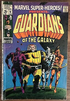 Marvel Super Heroes 18.  1st appearance Guardians of the Galaxy. Marvel. GD/VG