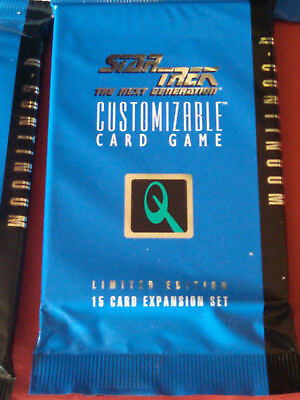 Star Trek Ccg  Factory Sealed Booster Pack 1St Edition Q-Continuum