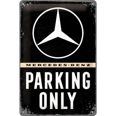 Blechschild 22276 - Mercedes-Benz Parking Only - 20 X 30 cm - Neu