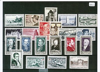 Timbres De France Annee Complete 1952 Neuf Luxe **