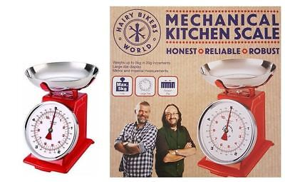 Hairy Bikers Retro Mechanical Kitchen Scale Food Scales 5KG - Red