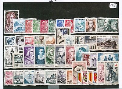 Timbres De France Annee Complete 1955 Neuf Luxe **