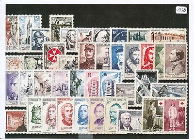 Timbres De France Annee Complete 1956 Neuf Luxe **