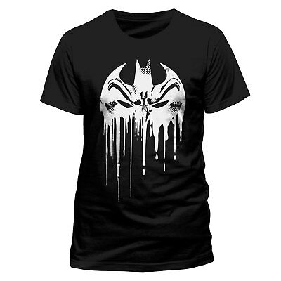 Official Batman Dripping Face T Shirt DC Comics Mask Logo Dark Knight  Small