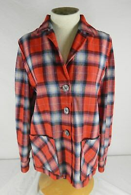 Vintage Pendleton Womens Limited Edition #9108 Red Plaid 49'er Jacket - Size S