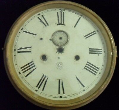 Antique New Haven Clock Co Dial and Frame 9""