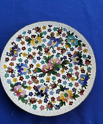 "Gorgeous Japanese  Cloisonne Millefleur  7"" Plate Bright Colors"