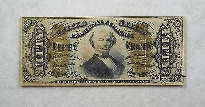 US Fractional Currency 50-Cent Note 3rd Issue ALMOST UNCIRCULATED